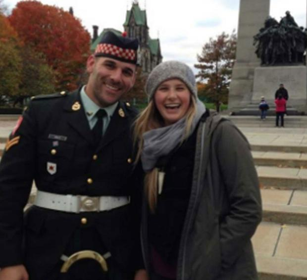 Tourist Megan Underwood posed with Mr Cirillo before the shooting