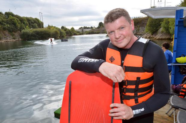 Reporter Graham Clifford pictured wake boarding in Ballyhass Lakes activity centre, Cecilstown, Mallow. Pic Daragh Mc Sweeney/Provision