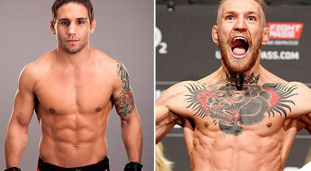 Chad Mendes and Conor McGregor