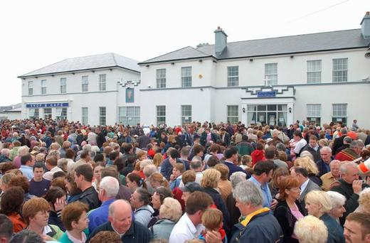 Pilgrims gather at the House of Prayer, on Achill Island, Co Mayo, which was founded by Christina GallagherPhoto : Keith Heneghan / Phocus.