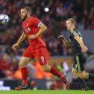 Rickie Lambert is aiming to take his opportunity in Liverpool's Capital One Cup game against Swansea City. Photo: Alex Livesey/Getty Images