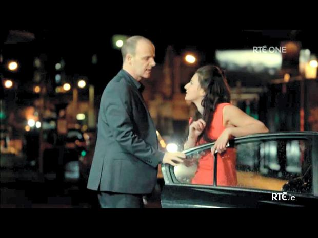 Brian F O'Byrne (DI Mick Moynihan) and Charlie Murphy (Siobhan) in a scene from Love/Hate Moynihan warns Siobhan to steer clear of Pauley for her own safety