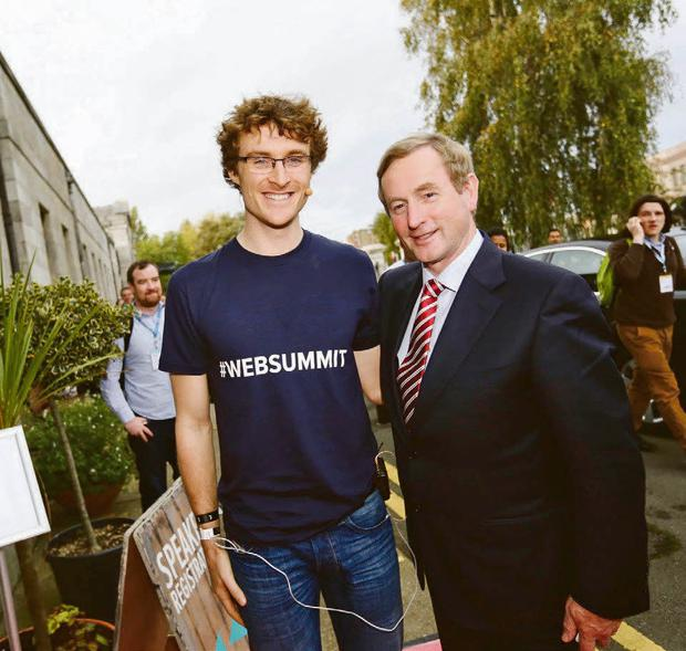 Paddy Cosgrave with Enda Kenny