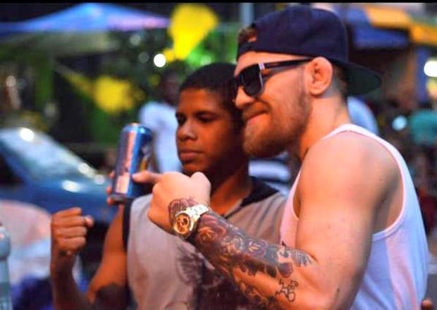 Conor McGregor with a fan