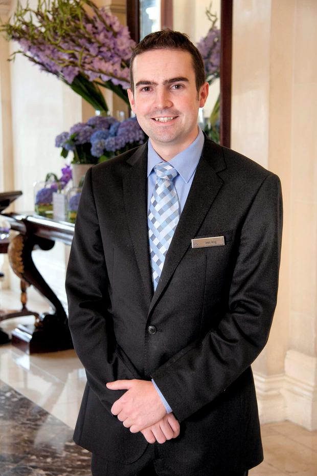 Bar Manager of the Year Ivan King of the Shelbourne Hotel