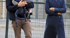 Jamie Dornan with wife Amelia Warner and their baby go for an early morning walk for breakfast in downtown Vancouver