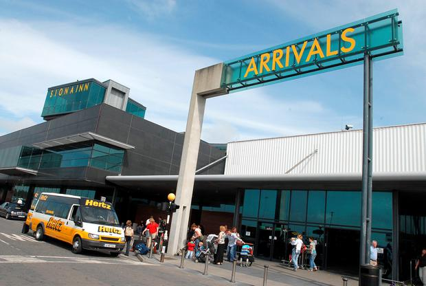 The arrivals terminal at Shannon Airport.