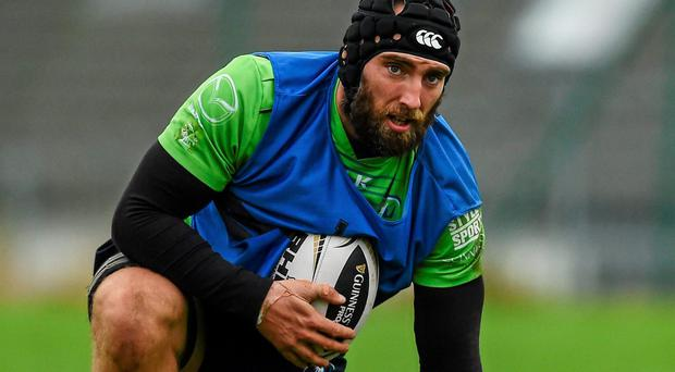 John Muldoon during squad training ahead of their Guinness Pro12, Round 7, match against Ospreys tonight. Diarmuid Greene / SPORTSFILE