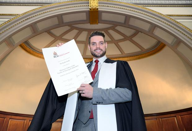 Keith Duffy awarded Honorary Fellowship for autism work from RCSI