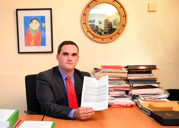 Councillor Kevin Callan, Mayor of Drogheda and Borough of Drogheda and District, who feels he must resign from the party because of the way the government have handled the setting up of Irish Water. Picture Ciara Wilkinson.