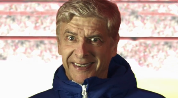 Arsene Wenger in the advertisement