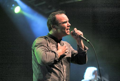 Sam T. Herring of Future Islands. Picture: Colm Kelly.