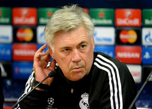 Real Madrid manager Carlo Ancelotti is the 'only manager in the world for whom a returning Gareth Bale could actually be a problem' (Martin Rickett/PA Wire)