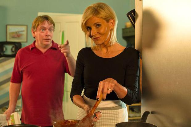 Ian Beale finds his late ex-wife Cindy cooking in their kitchen Pic: BBC