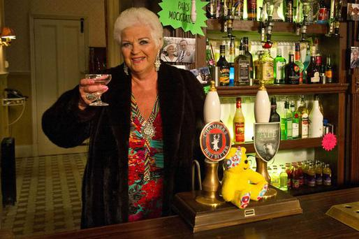 Actress Pam St Clement as Pat Butcher in the Queen Vic. She is set to make her return to Eastenders as a ghostly apparition. Pic: BBC