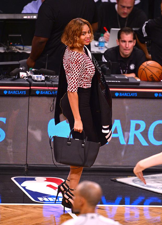 NEW YORK, NY - NOVEMBER 03: Beyonce Knowles attends the Oklahoma City Thunder vs Brooklyn Nets game at Barclays Center on November 3, 2014 in the Brooklyn borough of New York City. (Photo by James Devaney/GC Images)