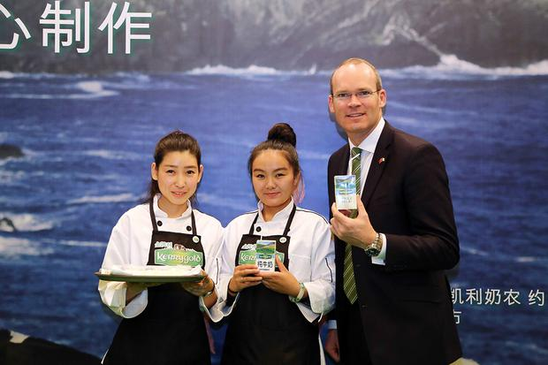 Minister for Agriculture, Food and the Marine, Simon Coveney at the launch in Beijing today