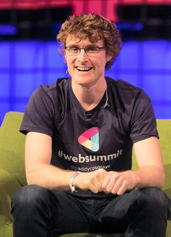 Web Summit Co Founder Paddy Cosgrave during the Web Summit at the RDS, Dublin last year. Photo: Gareth Chaney Collins