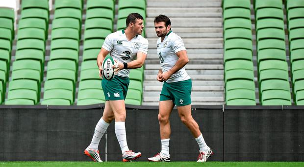 Ireland coach Joe Schmidt looks set to throw a major curve-ball by selecting both Robbie Henshaw and Jared Payne to face South Africa. Photo: SPORTSFILE