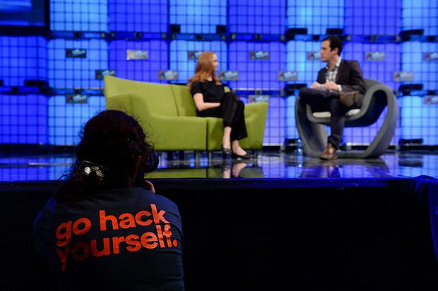 Model and philanthropist Lily Cole speaks at this year's Web Summit (Photo: Sportsfile)