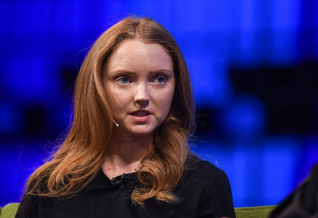 Lily Cole speaks at this year's Web Summit (Photo: Sportsfile)