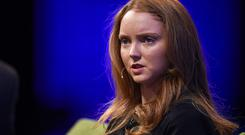 Lily Cole at the Web Summit today