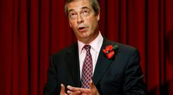 Ukip leader Nigel Farage has said he would support a minority Tory administration if his party holds the balance of power in 2015. Photo credit: Gareth Fuller/PA Wire