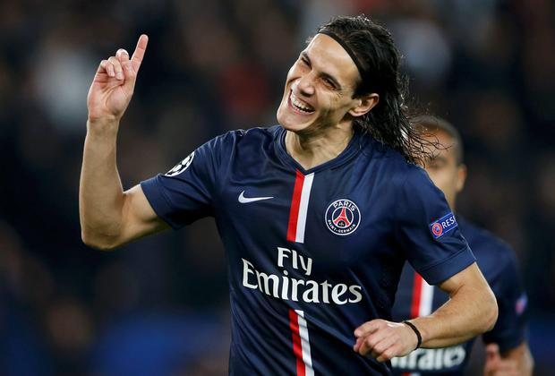 Paris St Germain's Edinson Cavani is a target for Manchester United, according to reports