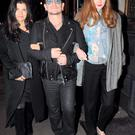 Bono and wife Ali Hewson arriving at the Clarence Hotel with actress and model Lily Cole Photo: John Dardis