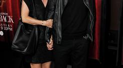 Courteney Cox, left, and Johnny McDaid arrive at the LA Premiere Of