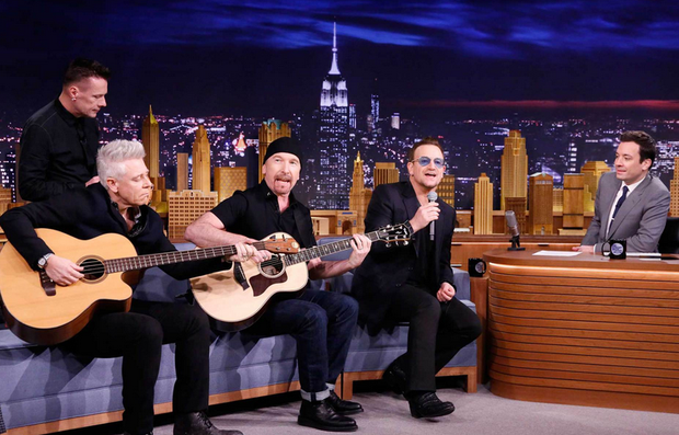 u2 on Late Night with Jimmy Fallon