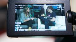 Co-founder Paddy Cosgrave speaking to Independent.ie reporter Denise Calnan at the Web Summit in The RDS. Photo: Kyran O'Brien