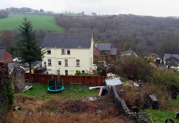 A general view of the rear of the Sirhowy Arms Hotel in Argoed, Blackwood, south Wales