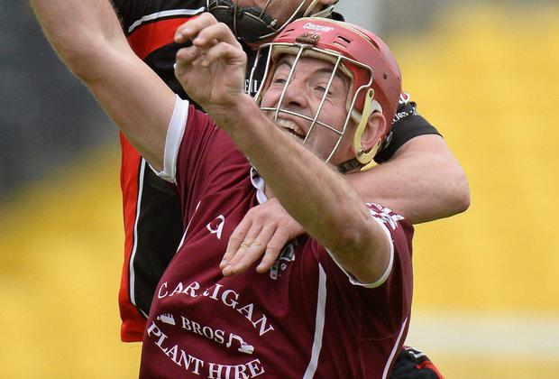 Conor Phelan in action for Clara. Matt Browne / SPORTSFILE
