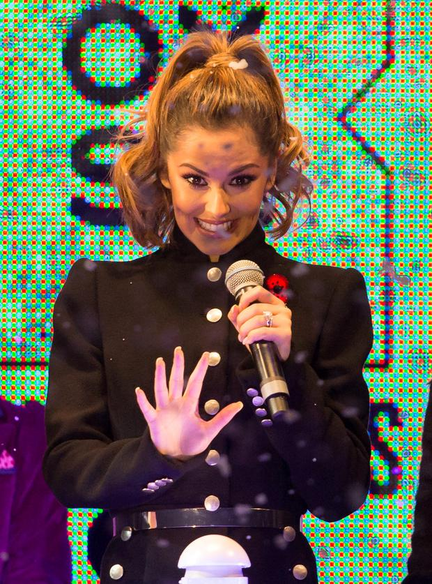 X Factor judge Cheryl Fernandez-Versini during the switch on for this year's Oxford Street Christmas lights