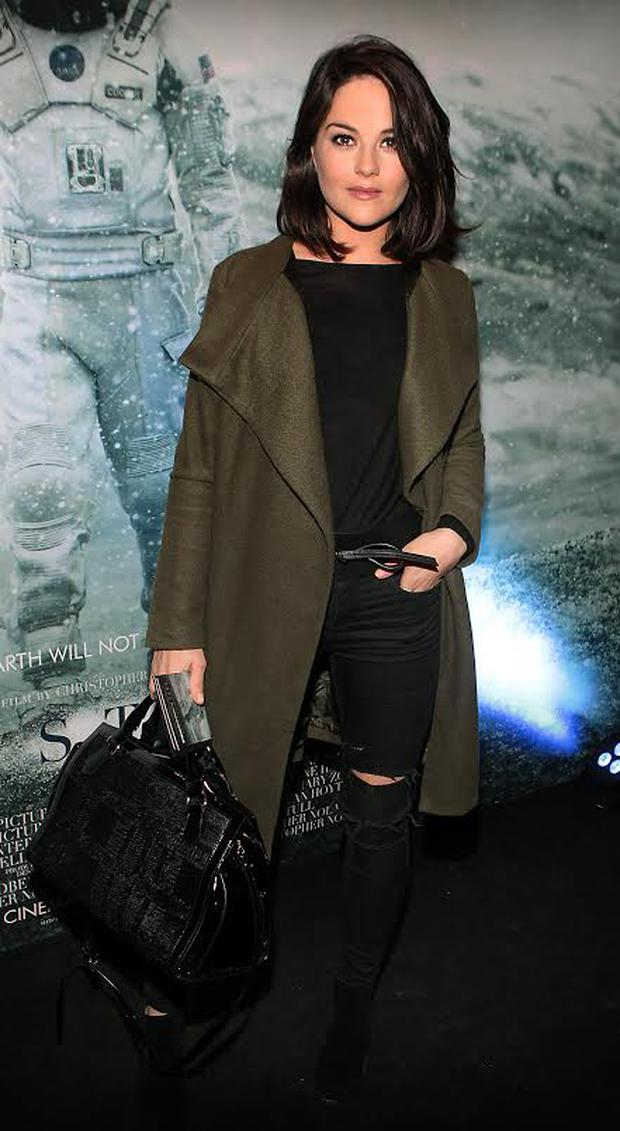 Actress Sarah Greene at the Irish premiere screening of Interstellar at The Savoy Cinema, Dublin.