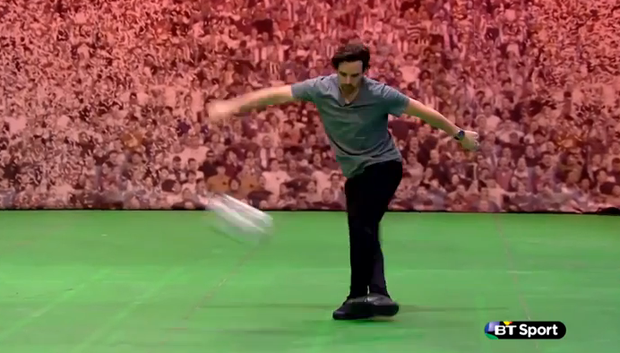 Owen Hargreaves executed a very nice rabona
