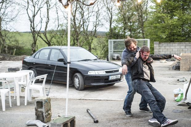 Peter Coonan as Fran and Ian Lloyd Anderson as Dean in Love/Hate