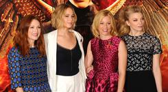 Julianne Moore, Jennifer Lawrence, Elizabeth Banks and Natalie Dormer attend the photocall for