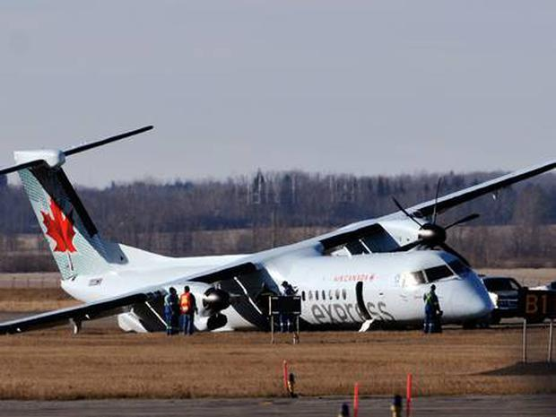 The plane was forced to make an emergency landing after a tire blew during take-off
