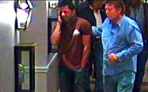 Mr Dewani in an apparent show of grief after hearing of his wife's murder