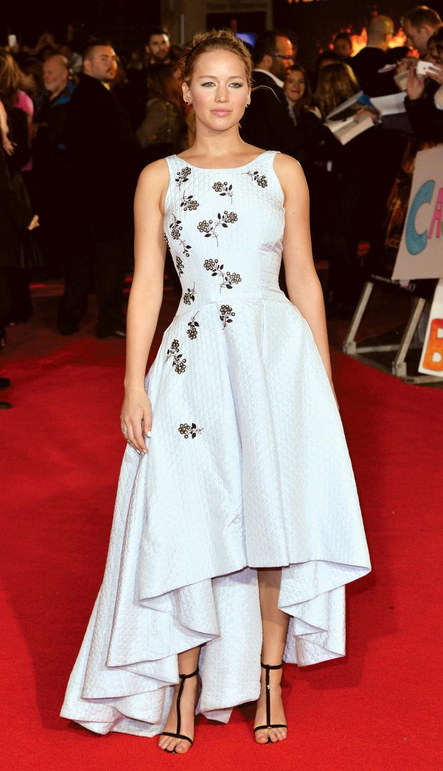 Jennifer Lawrence dazzled in Dior for the world premiere of