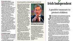 The letter in today's Irish Independent print edition