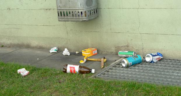 Four in every 10 people believe that litter is a major concern despite Irish towns being cleaner today than a decade ago