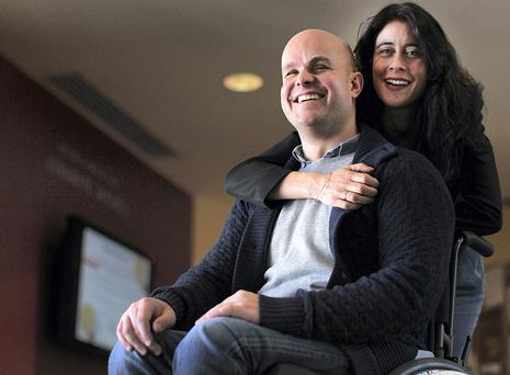 Mark Pollock and his fiancee Simone George