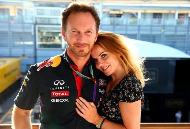 Infiniti Red Bull Racing Team Principal Christian Horner and Geri Halliwell pose after the F1 Grand Prix of Italy at Autodromo di Monza. Photo credit: Mark Thompson/Getty Images