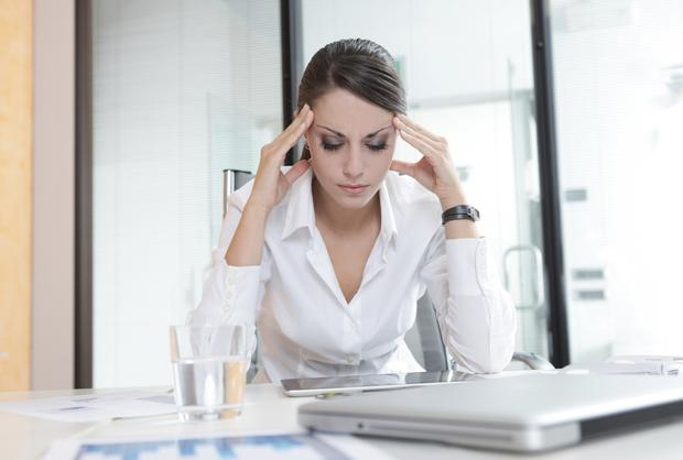 The study by Mercer found that 82pc of staff are facing increased personal stress, and 59pc are worried about their ability to maintain a healthy lifestyle while holding down a job (Stock image)