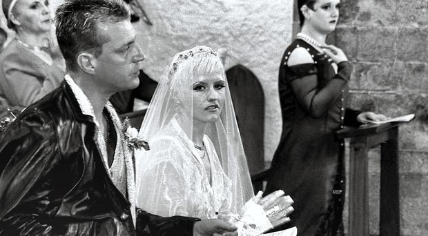 The wedding of Cranberries star Dolores ORiordan from Ballybricken and Don Burton at Holy Cross Abbey, Tipperary.