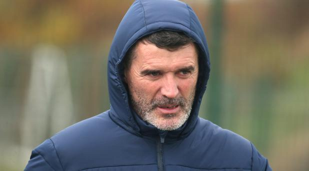 Roy Keane, Republic of Ireland assistant manager arrives at team training this morning. Photo: Damien Eagers