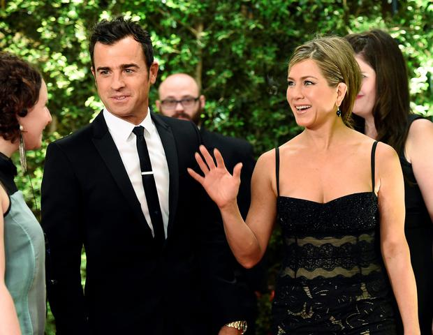 Actor Justin Theroux and Jennifer Aniston